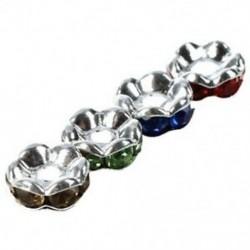1X (100 X ezüst fém gyöngyök távtartó gyöngyök 4 Case Pearl V3N5)