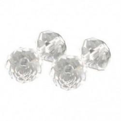 200 átlátszó kristálykvarc, csiszolt Rondelle gyöngyök, 4 mm C8C1