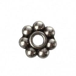 200 x 4 mm-es tibeti ezüst százszorszép spacer gyöngyök Charms Beads Q5S2
