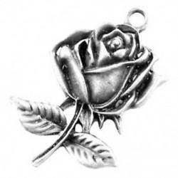 1X (10 darab antik ezüst ötvözet bársony medálok - rózsa - A0879 E3G2)