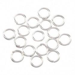 200 db ezüst gyűrű 6 mm-es ékszerkészítéshez J2K5