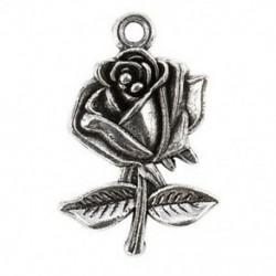 1X (10 darab antik ezüst ötvözet medálok - Rose - A0879 I8D5)
