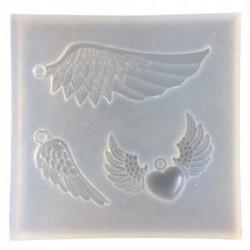 DIY kézműves ékszerek gyártása gyanta öntőforma szilikon medál penész angyal Wi E3B8