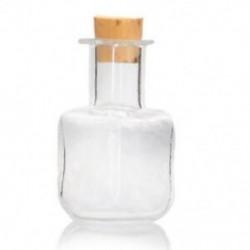 Átlátszó (tér) - 1X (5 db-os üveglap üvegből készült üveg üveg kupakkal, átlátszó 29mmx19mm X9C9)