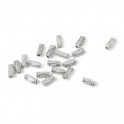 50 db ezüst aranyos hengeres távtartó fém gyöngyök ékszerkészítéshez P3Q9