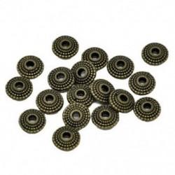 70 bronz tónusú csészealj távtartó gyöngyök 8x4mm G1E6