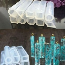 10 darab válogatott forma szilikon medál DIY formák gyanta formák DIY J B1R1