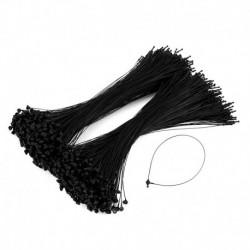 7 hüvelykes 1000 darab fekete rögzítő zárral ellátott hurok műanyag címke rögzítő kampós nyakkendők W8A I7P1