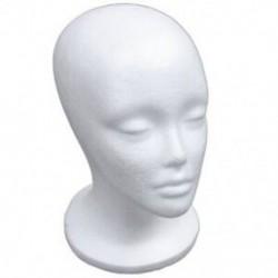 Női hab manöken fej modell kalap paróka kijelző állvány rack fehér P6K1