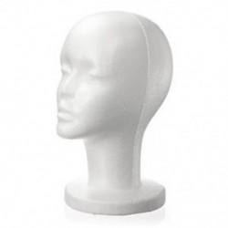 Divat női fehér hab polisztirol hab manöken kalap sapka Dummy paróka fej kijelző E4E6