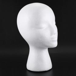 2X (polisztirolhab manöken parókafejű kijelző sapka sapka parókatartó fehér hab F2C9