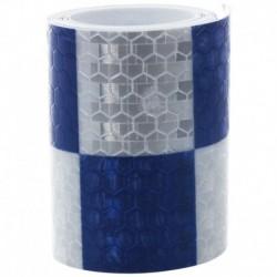 1M fényvisszaverő biztonsági figyelmeztető szembetűnő szalagmatrica, fehér   kék L3T3