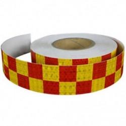 1M fényvisszaverő biztonsági figyelmeztető szembetűnő szalagmatrica, piros   sárga N5S4