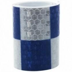1M fényvisszaverő biztonsági figyelmeztető szembetűnő szalagmatrica, fehér   kék D5E9