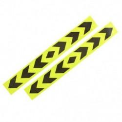 2X (fényvisszaverő autó figyelmeztető jel ragasztószalag sárga fekete 2Pcs G5L7)