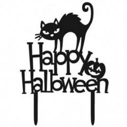 2X (Halloween fekete macska tök angol levél süteménykészlet gyönyörű R2H7 tortadekorációval