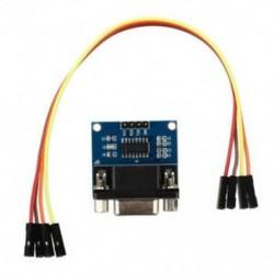 MAX3232 RS232 soros port a TTL átalakító modulhoz DB9 csatlakozó W / 4 Ugrás C D1B4