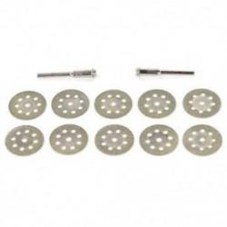 10 PCS 22 mm-es 8 lyukú elektromos csiszolási kiegészítők Gyémánt szelet / Fűrészlap B6T1