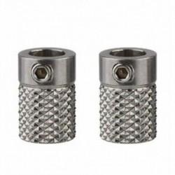 2X (2 db rozsdamentes acélból készült, gyöngyözött 3D nyomtató extrudált hajtómű-adagoló kerék Q1O1