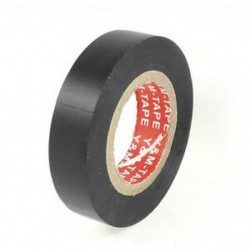 PVC elektromos huzalszigetelő szalag fekete 20 mm hosszú, 16 mm széles fekete F6S9