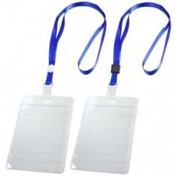 1X (2 db személyi igazolvány-jelvénytartó állítható nyakszíjjal, kék, tiszta Z3A1)