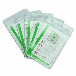 1X (5 vízálló átlátszó műanyag jelvény Munkakiállítás azonosító névkártyatartók E5C6
