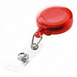 Piros - 1X (visszahúzható síbérlet-azonosító kártya jelvénytartó kulcstartó orsók Q7I2 klipsszel)