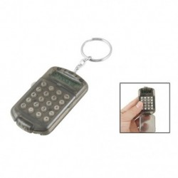 Új szürke kemény műanyag ház, 8 számjegyű elektronikus mini számológép W kulcstartó C8W2