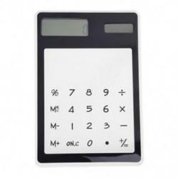 Asztali átlátszó érintőképernyős számológép, fekete 8 számjegyű T4R5