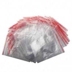 1X (100 db Ziplock Lock cipzáras többszintes átlátszó táskák műanyag cipzáras 7 * 10cm E3A4)