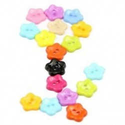 1X (100 db 12 mm-es vegyes színű szilva virággyanta gombok varrás kiegészítői H6D7)