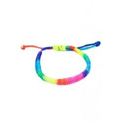 1X (női kedvenc szivárványos fluoreszkáló színű szövött karkötő C9X2)