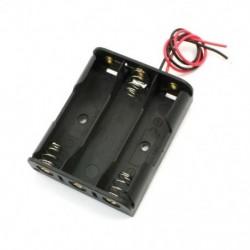 Rugócsipesz Fekete műanyag 3 x 1,5 V-os AA elemtartó tokban, D1A9 tartó