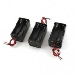 3 darab fekete 4 x 1,5 V-os AA elem Elemtartó-tartó tok D9J2 vezeték