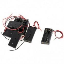 7 darabos fekete piros, kétvezetékes kábelcsatlakozók, 2x AAA elemtartó doboztartó, T5P7