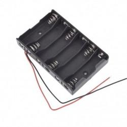 1X (új 6 x 1,5 V AA 2A CELL elem akkumulátor tartó doboz 9V tok, QitR4