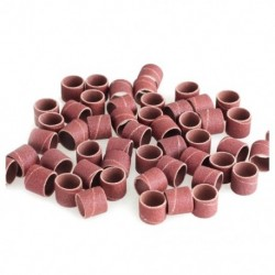 Csiszolópapír gyűrű 1/2 hüvelyk 1/2 hüvelyk 80 Grit Fa polírozott faragott fémlakk O1F1