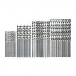 1X (40 db mini fúró HSS-bit, 0,5 mm – 2,0 mm, egyenes szárú, NYÁK-ban, csavart fúró, A4U5