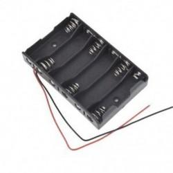2X (új 6 x 1,5 V AA 2A CELL elem akkumulátor tartó doboz 9V tok Wit P5L3