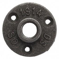 10x (1/2 hüvelykes fekete öntöttvas csőszerelvények, BSP padlókarima, menetes A1L5)