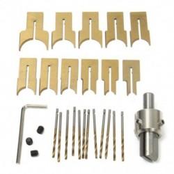 4X (24 db fém gömb kés kés Famegmunkáló szerszámok Fagyöngyök fúró Rotary Bead P8E2