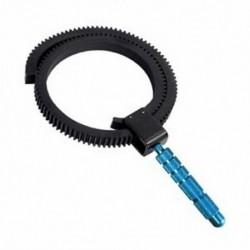 Gumi Follow Focus gyűrűs fogaskerék csatlakozóval SLR fényképezőgépekhez, digitális DSLR P C3I5