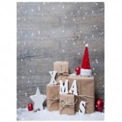 150x90cm-es Havas táj ajándékdobozokkal - Karácsonyi háttér stúdió fotózáshoz - R5E4