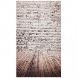 Téglafal és deszka padló háttér stúdió fotózáshoz - K7G4