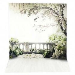 220x150cm-es Virágos terasz háttér stúdió fotózáshoz - Q3B5