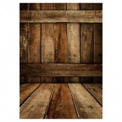 210x150cm-es Retro deszka fal és padló háttér stúdió fotózáshoz - G CQ