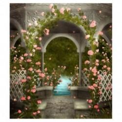210x150cm-es Esküvői virágdíszes pailon háttér stúdió fotózáshoz - H5E4
