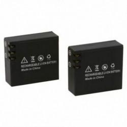 2x900mAh frissített Li-ion akkumulátor az SJCAM SJ4000 SJ6000 SJ5000 wifi SJ5000   G7U2
