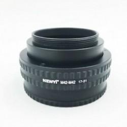 1X (NEWYI M42-M42 (17-31 mm)) állítható állítható fókuszáló helicoid adapter 1 F8N3