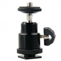 2X (alumíniumötvözetből készült mini gömbfejű, 1/4 &quot -es tartóval, vakuval, DSLR tükörreflexes